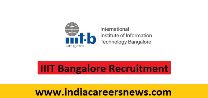 IIIT Bangalore Recruitment