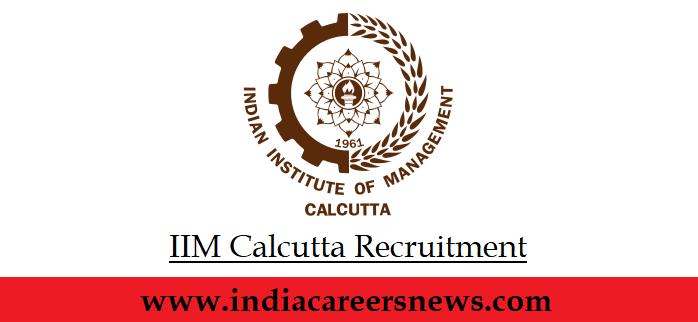 IIM Calcutta Recruitment