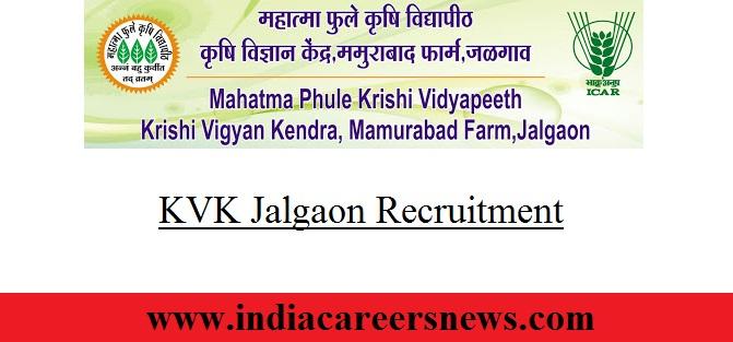 KVK Jalgaon Recruitment