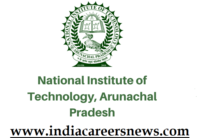 NIT Arunachal Pradesh Recruitment