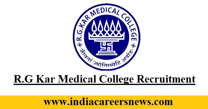 R.G Kar Medical College Recruitment