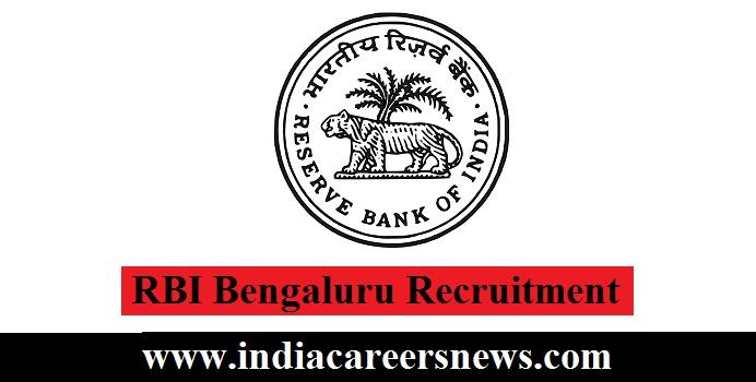 RBI Bengaluru Recruitment