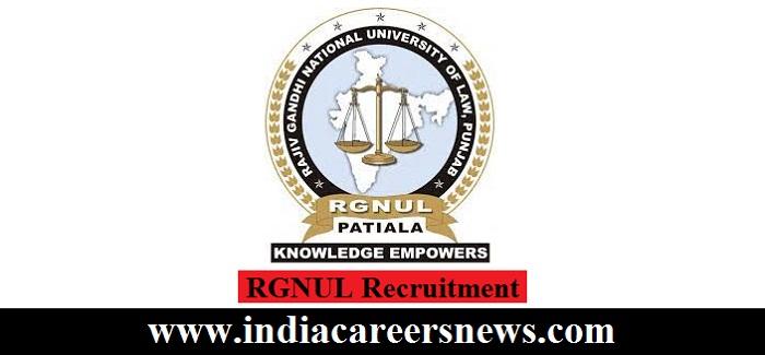 RGNUL Recruitment