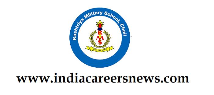 Rashtriya Military School Chail Recruitment