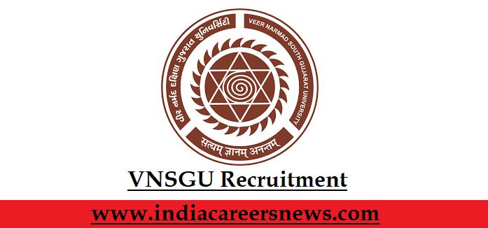VNSGU Recruitment